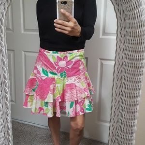 Rare! Vintage Lilly Pulitzer Parrot/Floral Skirt